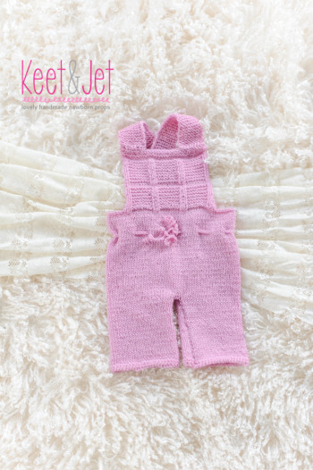 Newborn knitted overall Lize