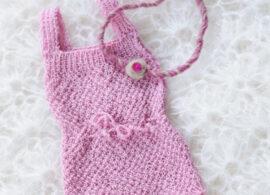Knitted newborn romper Juul