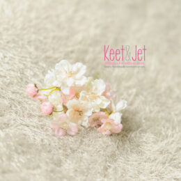 Fluffy stretch knit backdrop beige