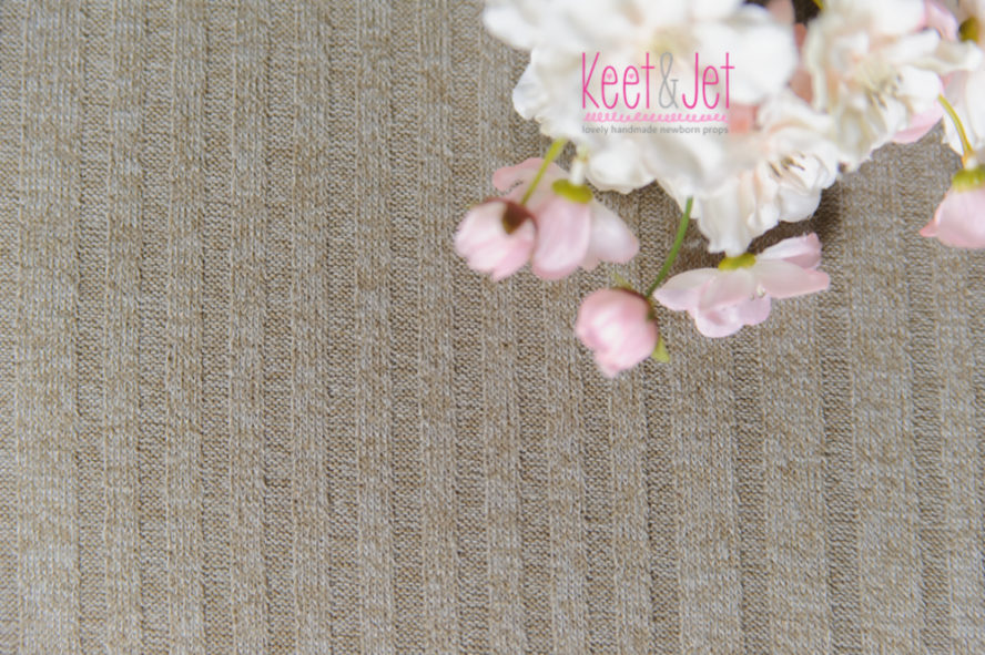 Rib knitted beanbag fabric beige