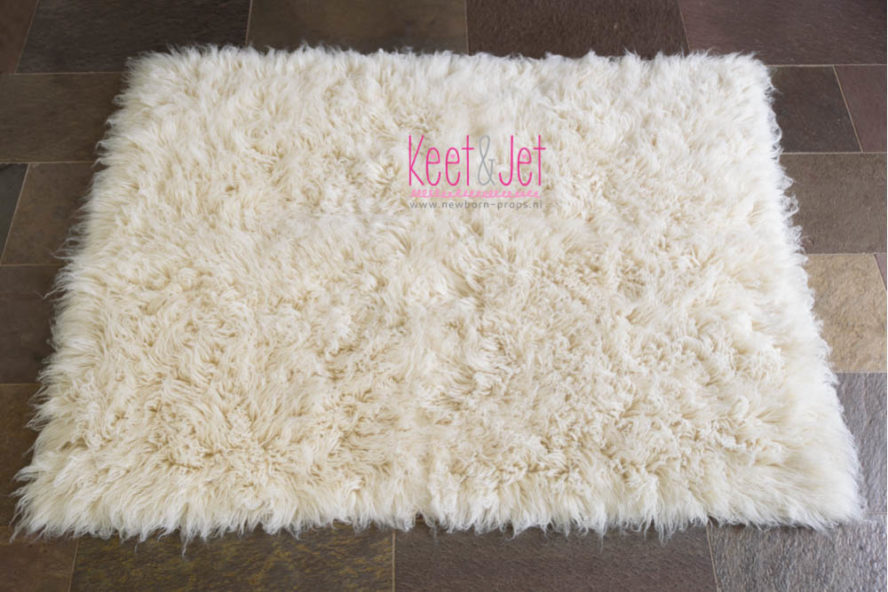 Flokati off white