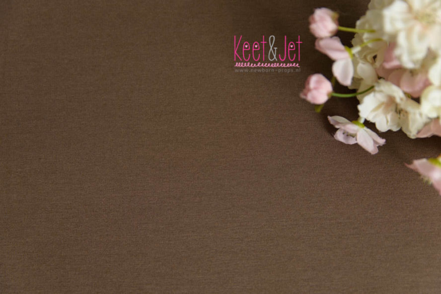 Julie - Stretch Jersey Backdrop - Medium Brown