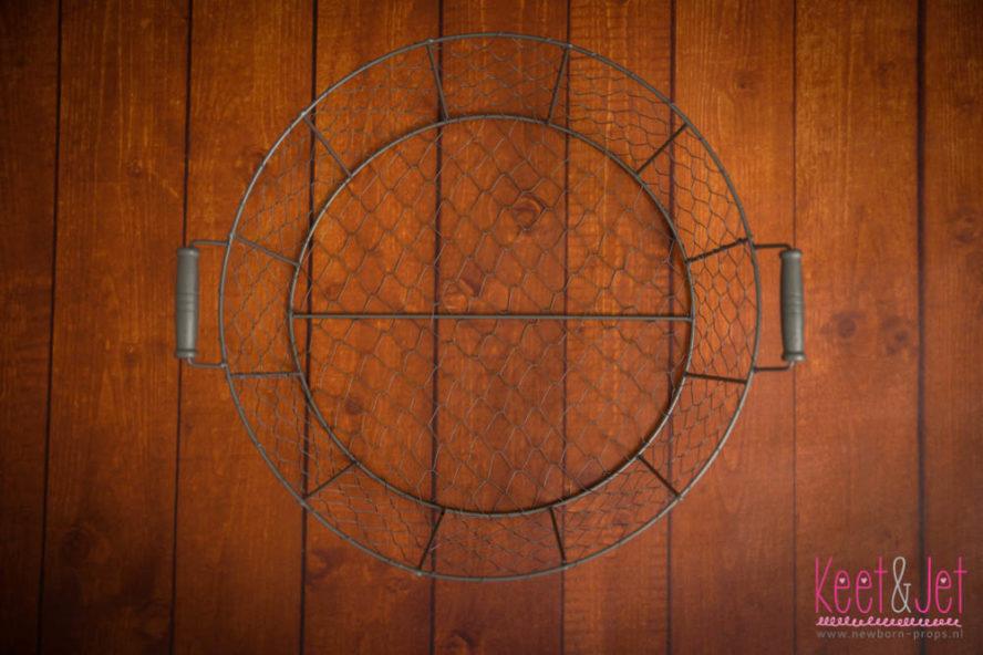 Ronde draadmand 40 cm met handvaten