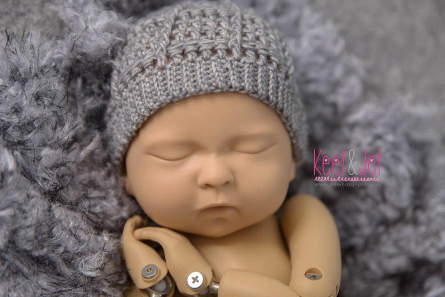 Randy Newborn beanie grey