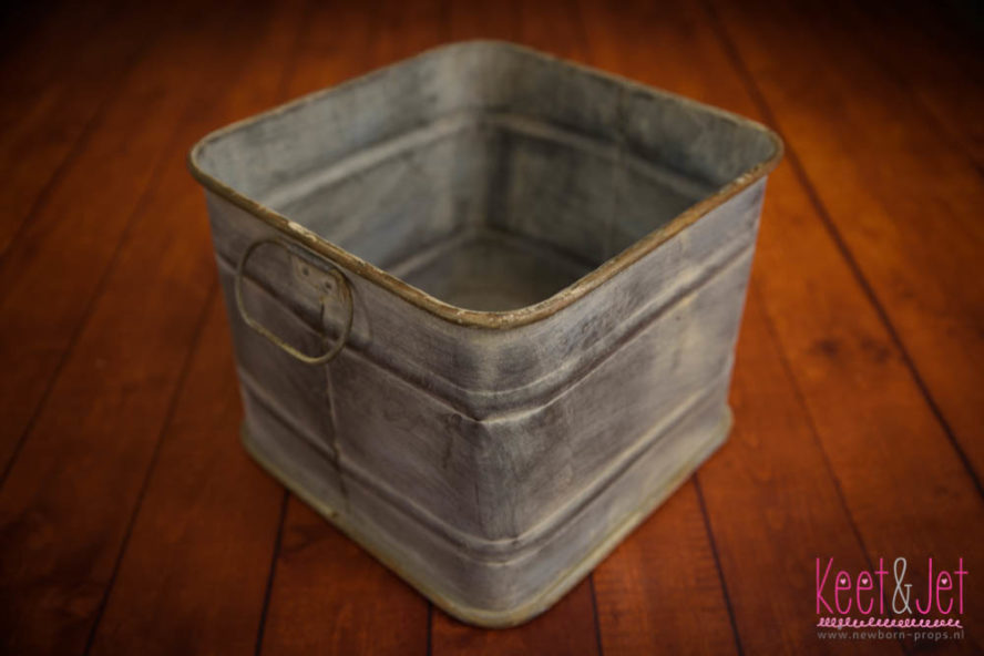 Square zink bucket with handdles