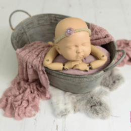 Vintage bathtub newborn