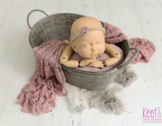 Vintage bathtub newborn