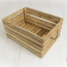 Wooden crate natural